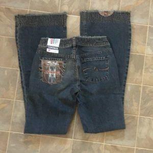 Silver Contour Cinch Wideleg Jeans new